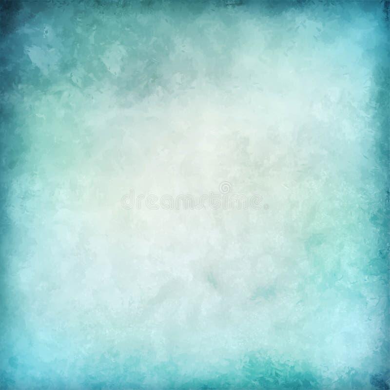 Abstrakt blå vektorvattenfärgbakgrund royaltyfri illustrationer