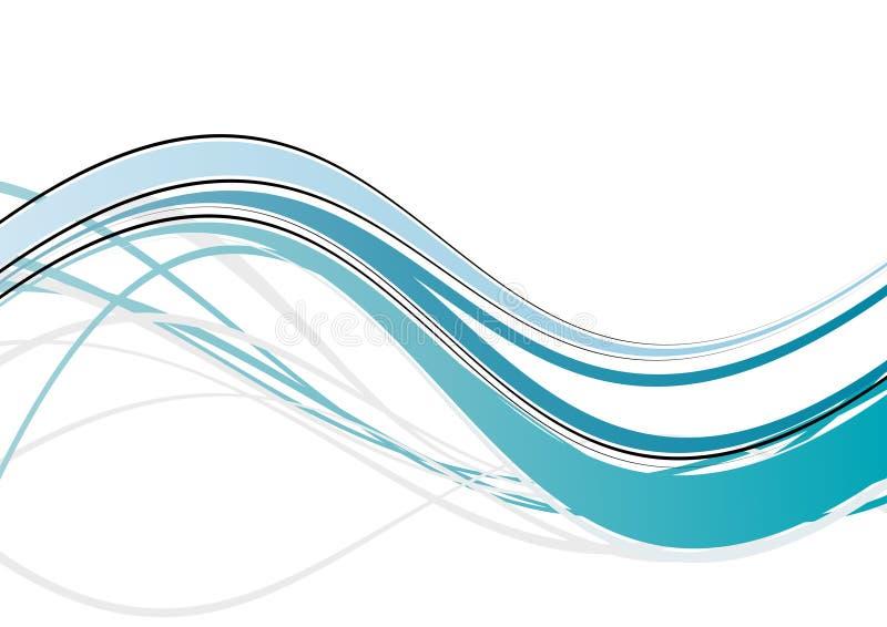 Abstrakt blå wave