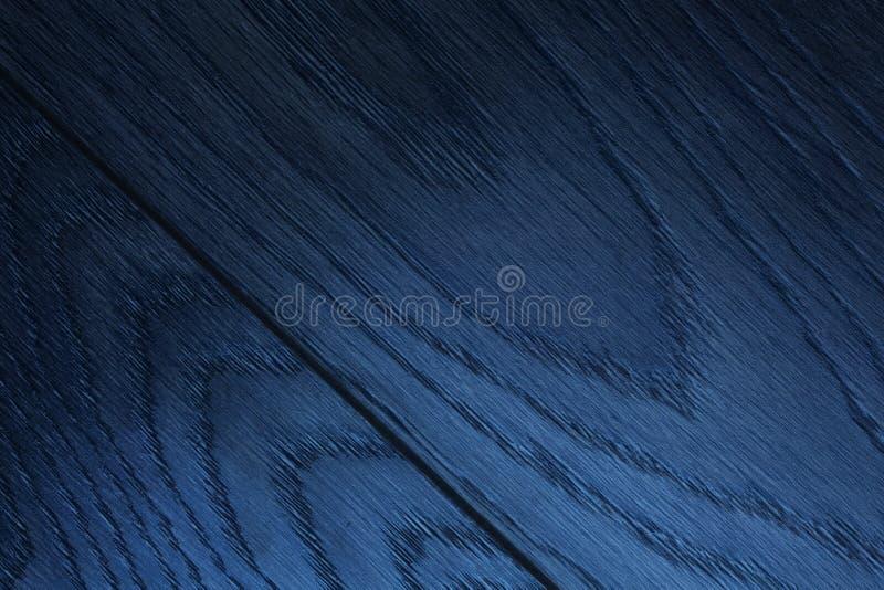 Abstrakt blå wood textur arkivfoto