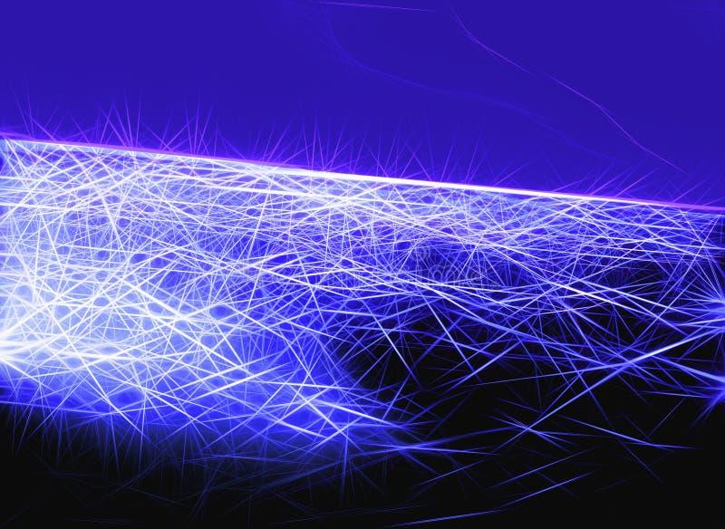 Abstrakt blå yttre rymdbakgrund som skapas från fina linjer royaltyfri foto