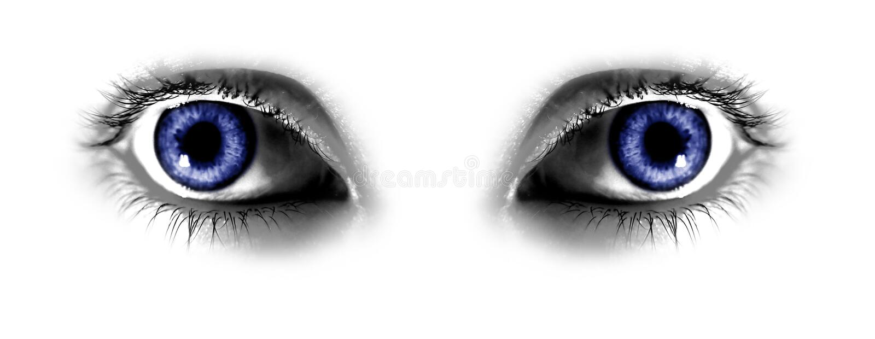 abstrakt blåa ögon två royaltyfri illustrationer