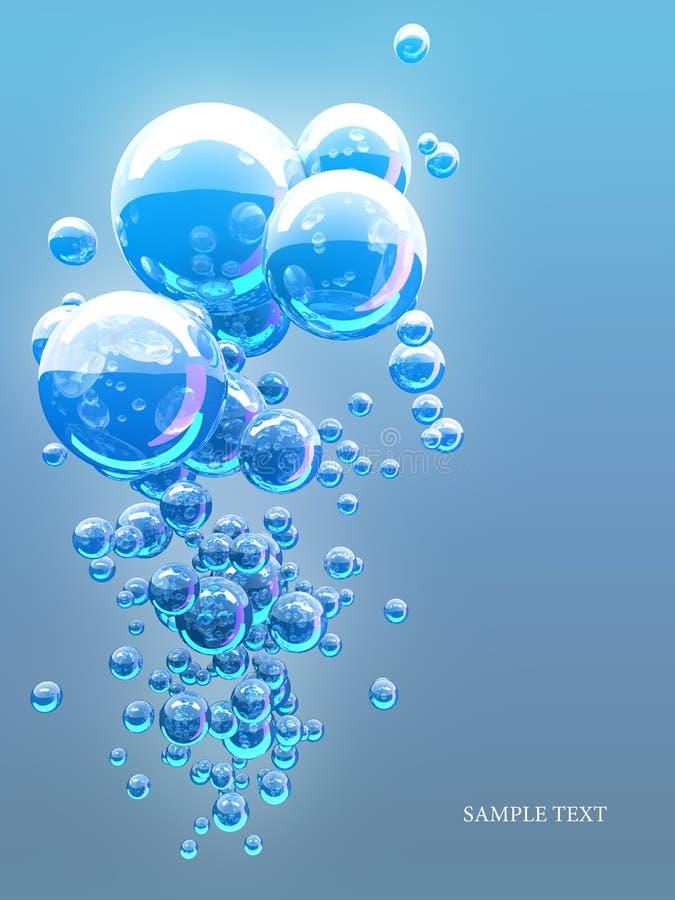abstrakt blåa bubblor royaltyfri bild
