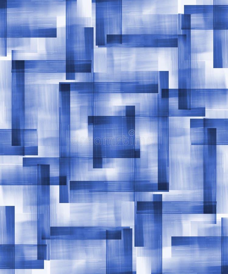 abstrakt blåa former royaltyfri illustrationer