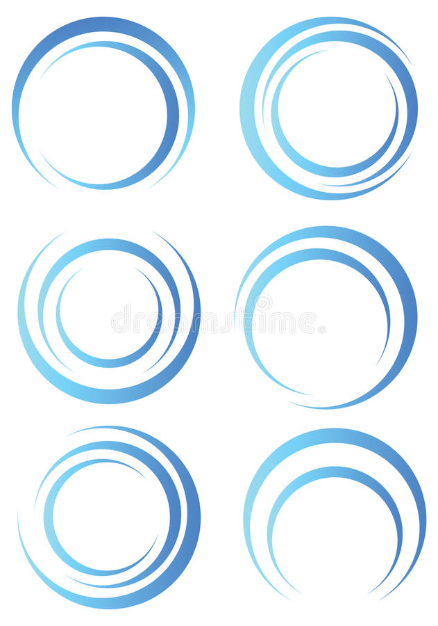 abstrakt blåa former vektor illustrationer