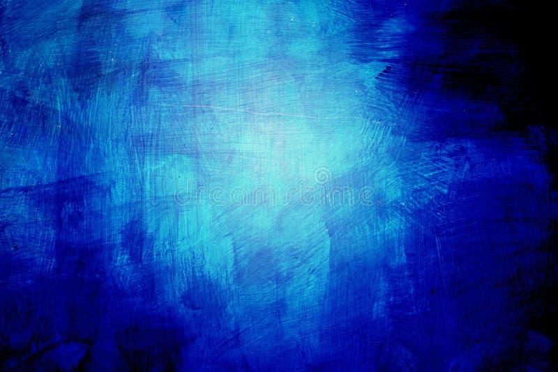 Abstrakt blåa målarfärgslaglängder royaltyfria bilder