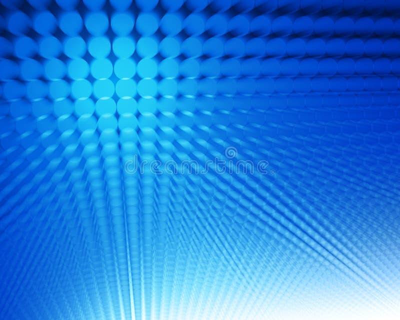 abstrakt blåa prickar stock illustrationer