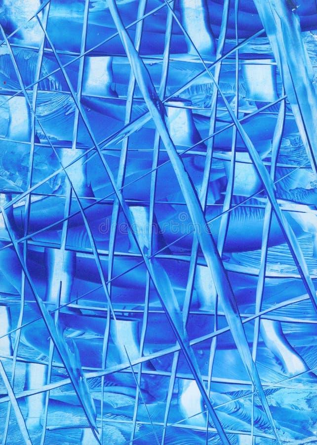 Download Abstrakt blålinjen stock illustrationer. Illustration av målning - 77608