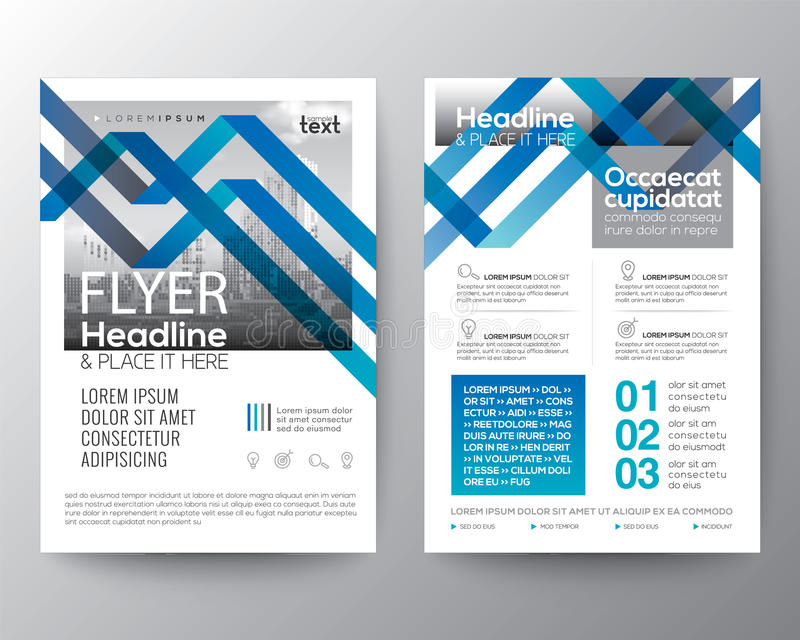Abstrakt blålinjenbakgrund för orientering för design för affischbroschyrreklamblad vektor illustrationer
