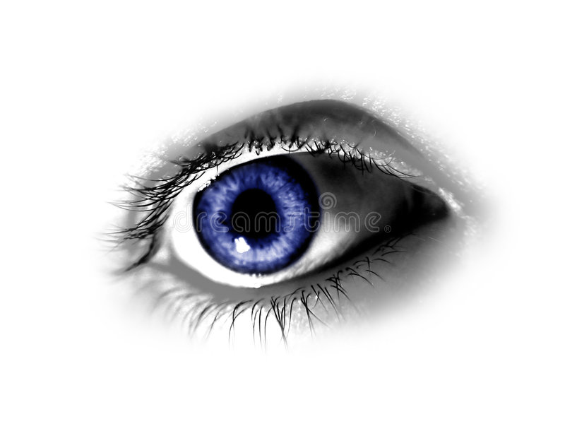 abstrakt blått öga vektor illustrationer