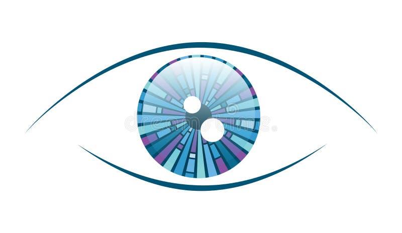 Abstrakt blått öga stock illustrationer