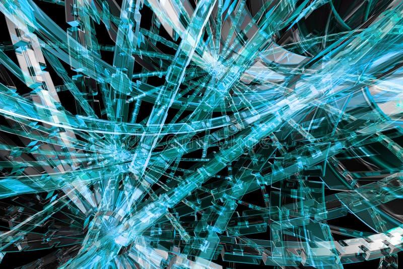 abstrakt blått hjul för kugge 3d royaltyfri illustrationer