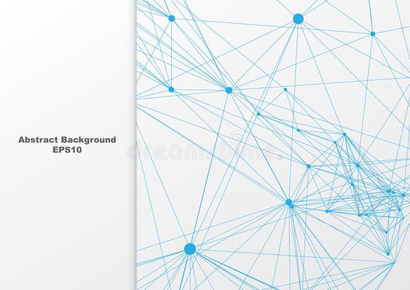 Abstrakt blått ingrepp på den vita bakgrundsdesignen Illustrationvektordesign stock illustrationer
