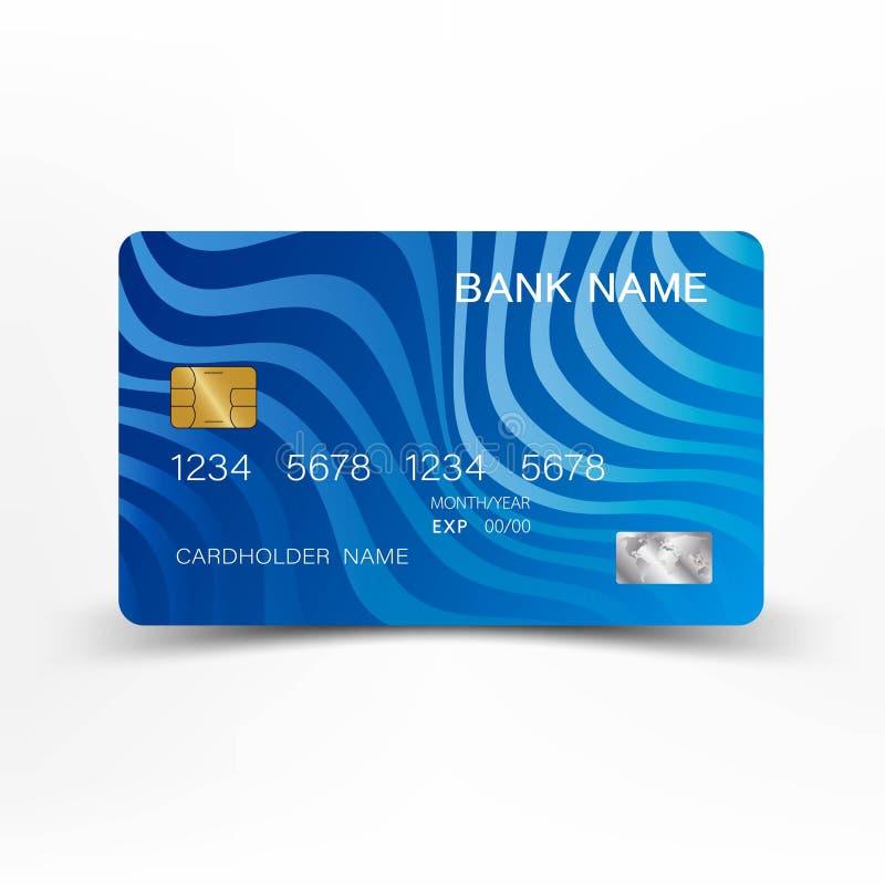 abstrakt blått kortkrediteringsfoto royaltyfri illustrationer