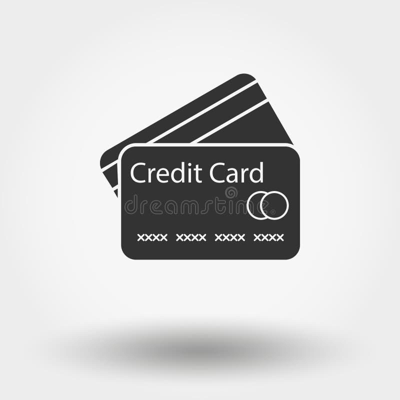 abstrakt blått kortkrediteringsfoto vektor illustrationer