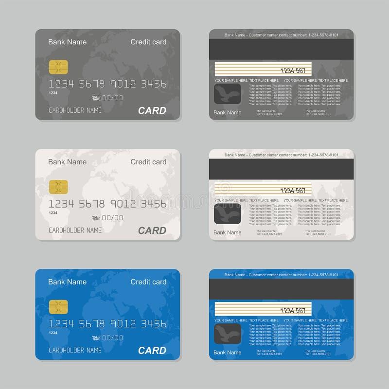 abstrakt blått kortkrediteringsfoto stock illustrationer