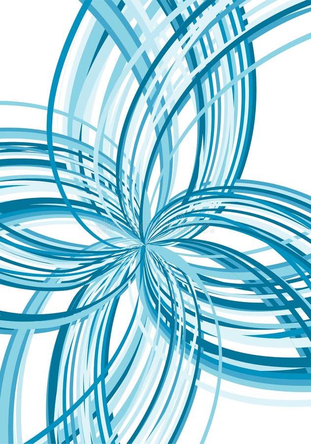 abstrakt blått sprängämne stock illustrationer