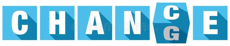 Abstrakt blått tärnar att vända från möjlighet att ändra royaltyfri illustrationer