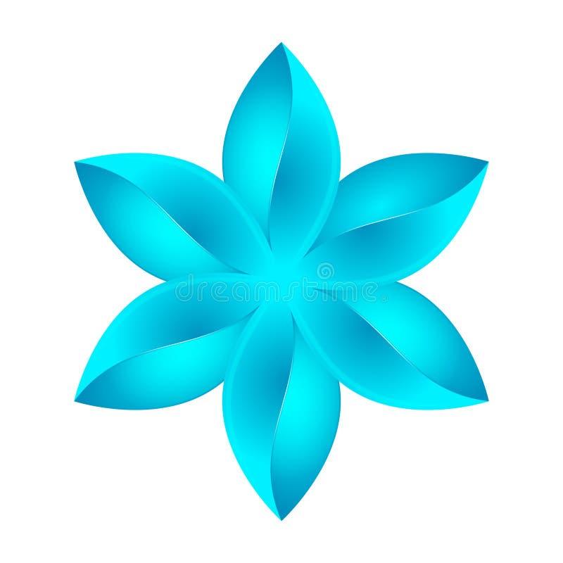 Abstrakt blåttblommadesign royaltyfri illustrationer