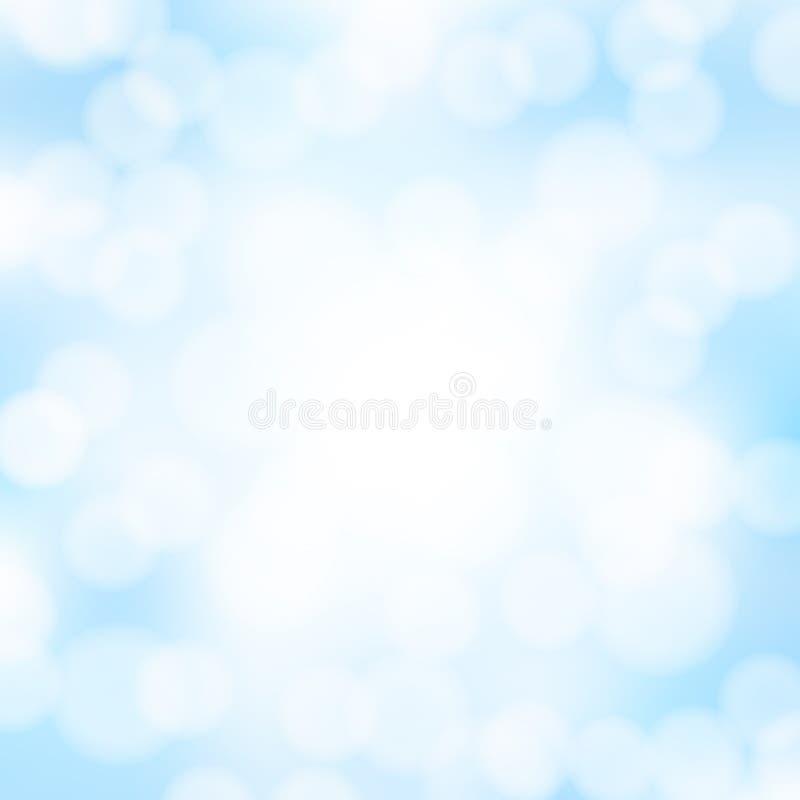Abstrakt blåttbokehbakgrund vektor illustrationer