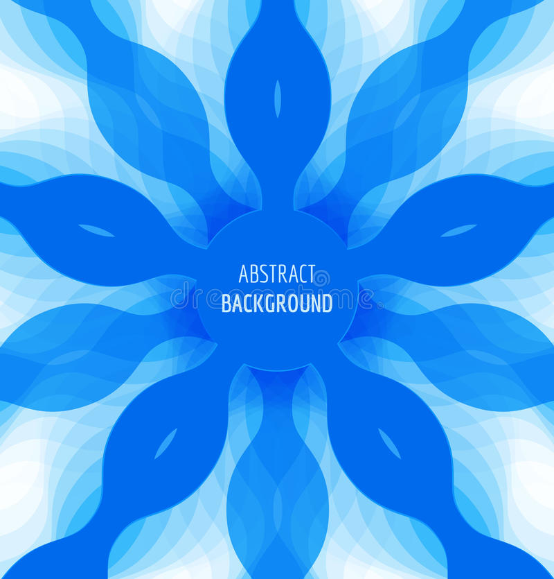 Abstrakt blåttcirkelbakgrund med banret stock illustrationer