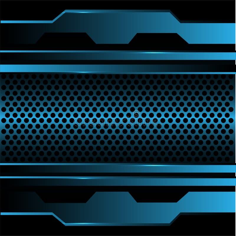 Abstrakt blåttcirkelingrepp i vektor för bakgrund för metalldesign modern futuristisk vektor illustrationer
