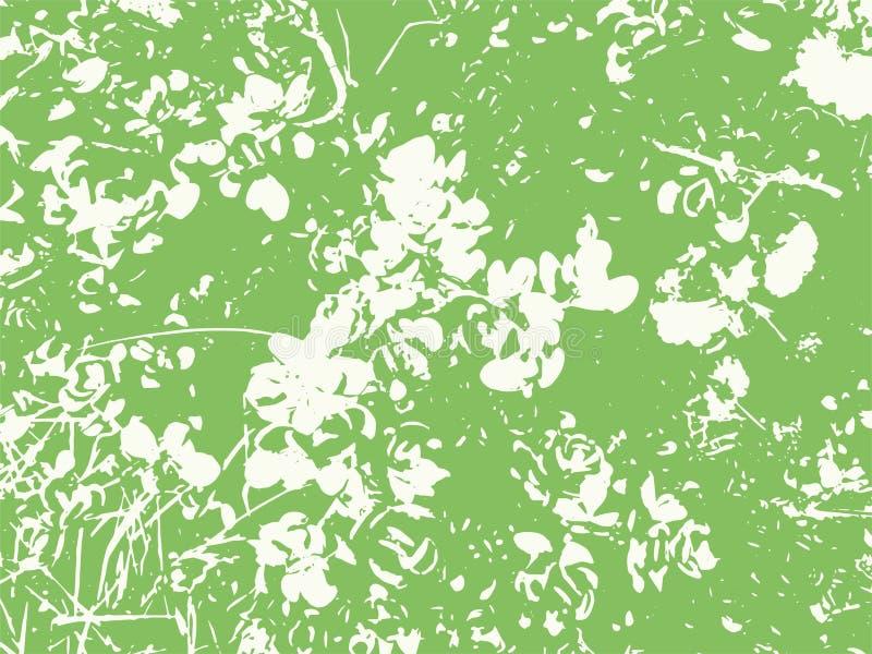 Abstrakt blad texturerad vektorbakgrund stock illustrationer