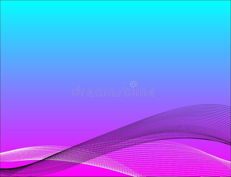 Abstrakt blandningvåglinje bakgrund royaltyfri illustrationer