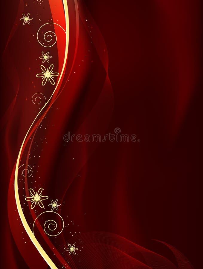 abstrakt blank dekorativ red royaltyfri illustrationer
