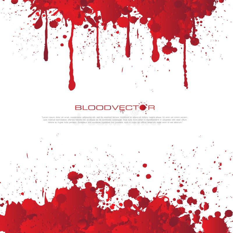Abstrakt blod plaskar isolerat på vit bakgrund, des vektor illustrationer