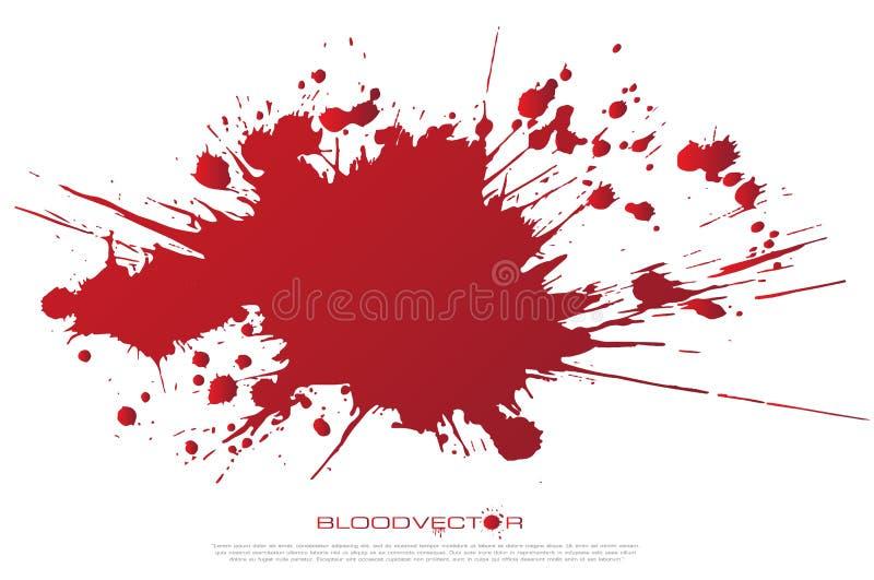 Abstrakt blod plaskar isolerat på vit bakgrund, vektordes vektor illustrationer