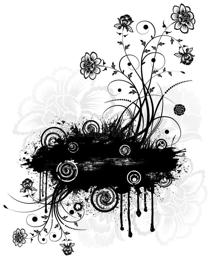 abstrakt blom- vektor illustrationer