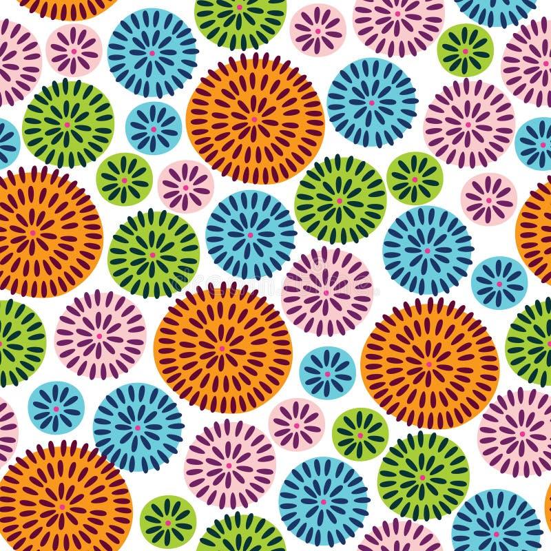 Abstrakt blom- bakgrund vektor illustrationer
