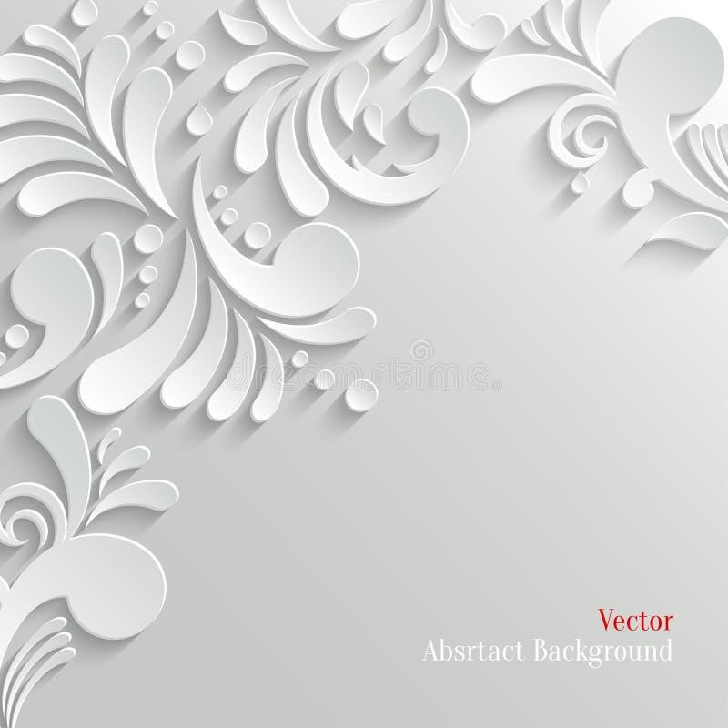 Abstrakt blom- bakgrund 3d royaltyfri illustrationer
