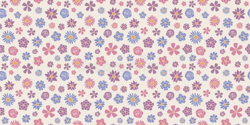 Abstrakt blom- bakgrund - den sömlösa modellen med våren blommar Dagen för ` s för dagen och för valentin fostra för dag-, kvinna arkivfoton