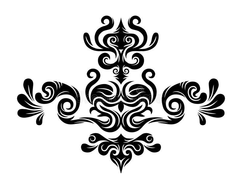 abstrakt blom- diagram royaltyfri illustrationer