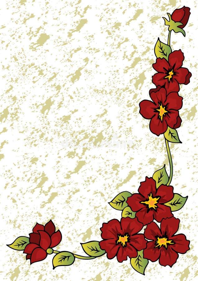 Abstrakt blom- hörn royaltyfri illustrationer