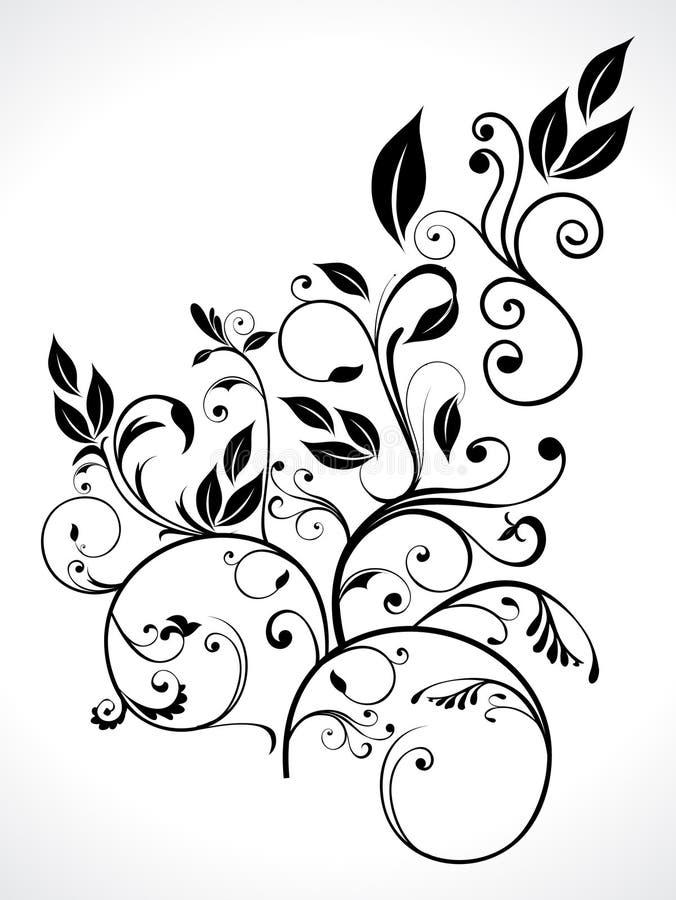 abstrakt blom- leaf royaltyfri illustrationer
