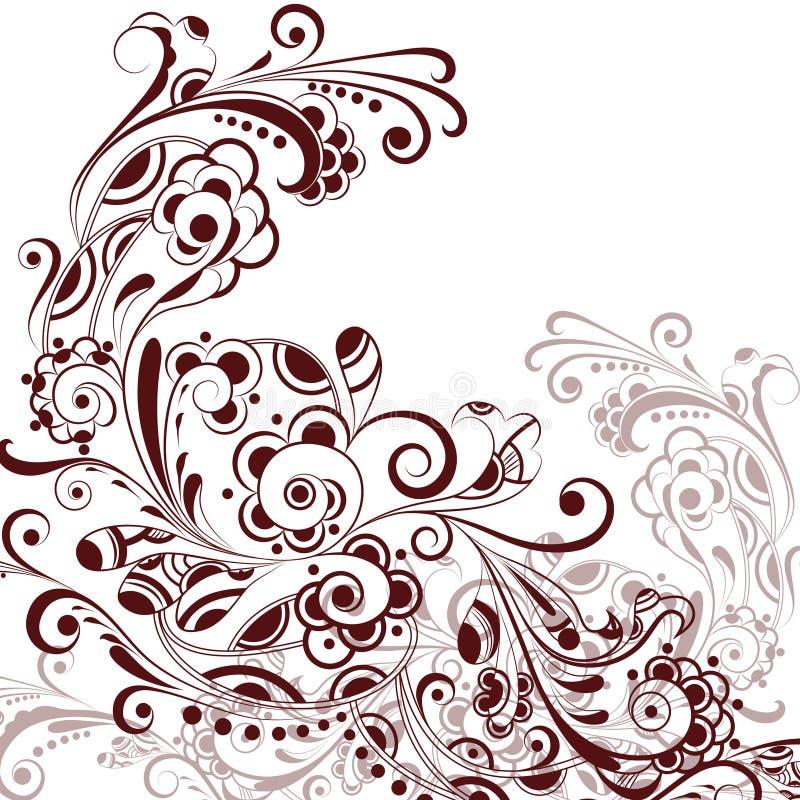 abstrakt blom- pattern4 stock illustrationer