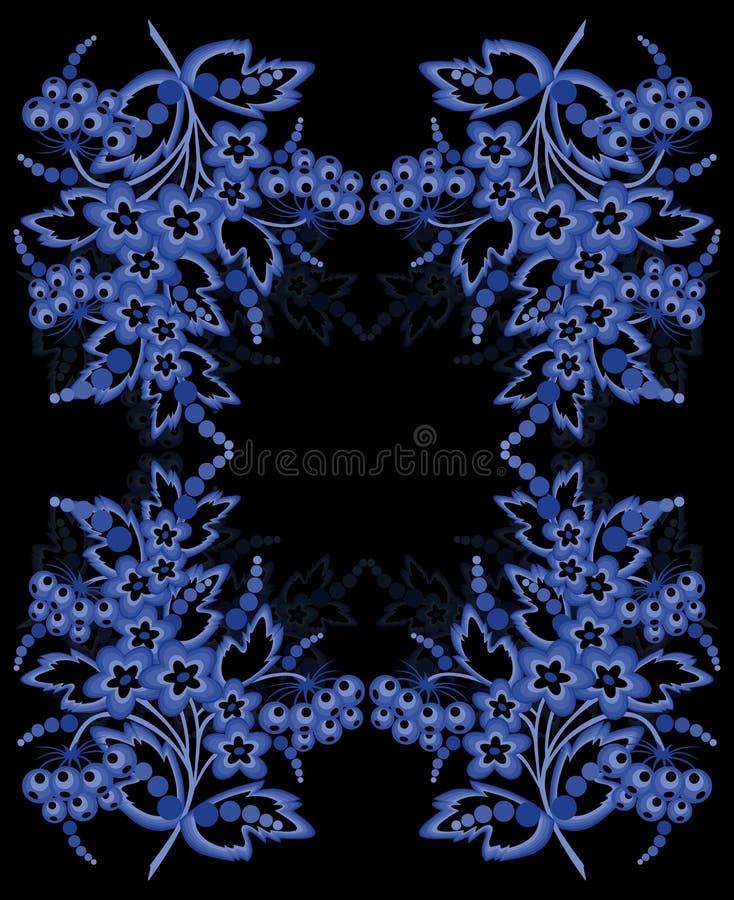 Download Abstrakt blom- ram vektor illustrationer. Illustration av diagram - 37344312