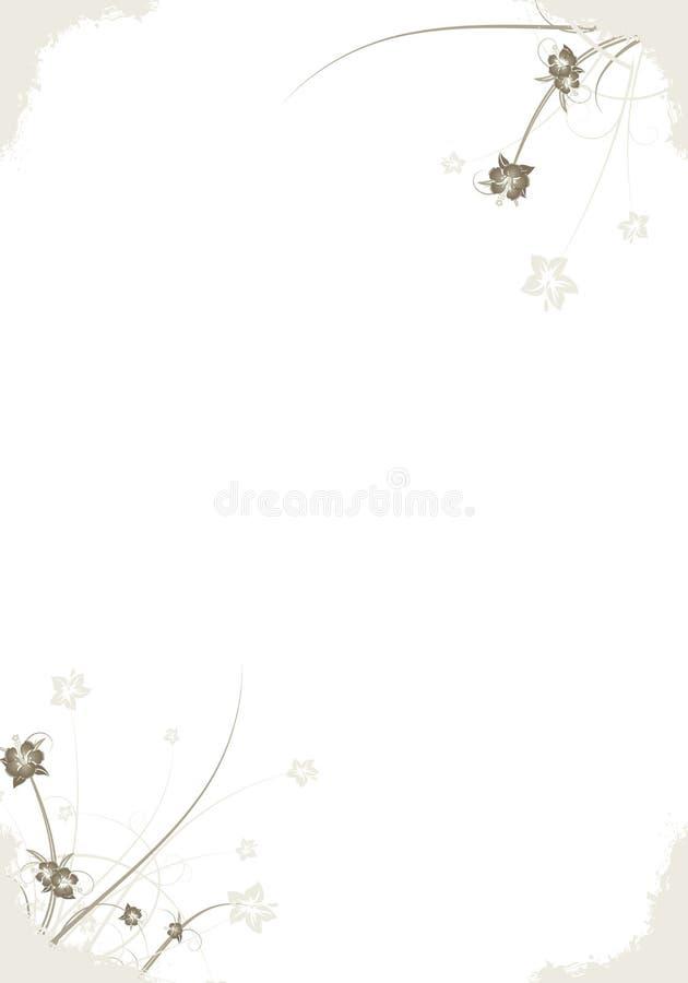abstrakt blom- ramgrunge royaltyfri illustrationer