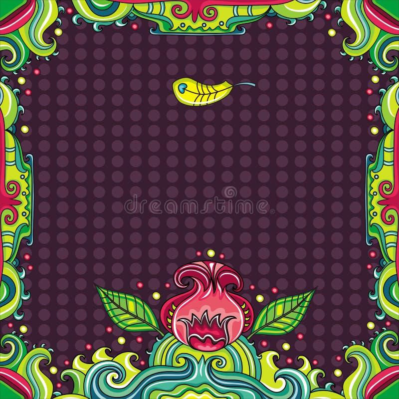 abstrakt blom- ramserie vektor illustrationer