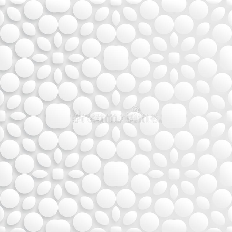Abstrakt blom- sömlös modell 3d royaltyfri illustrationer
