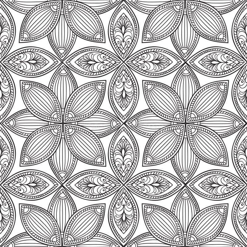 Abstrakt blom- seamless mönstrar Geometrisk prydnadtextur vektor illustrationer