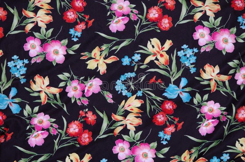 Abstrakt blom- tyg royaltyfria foton