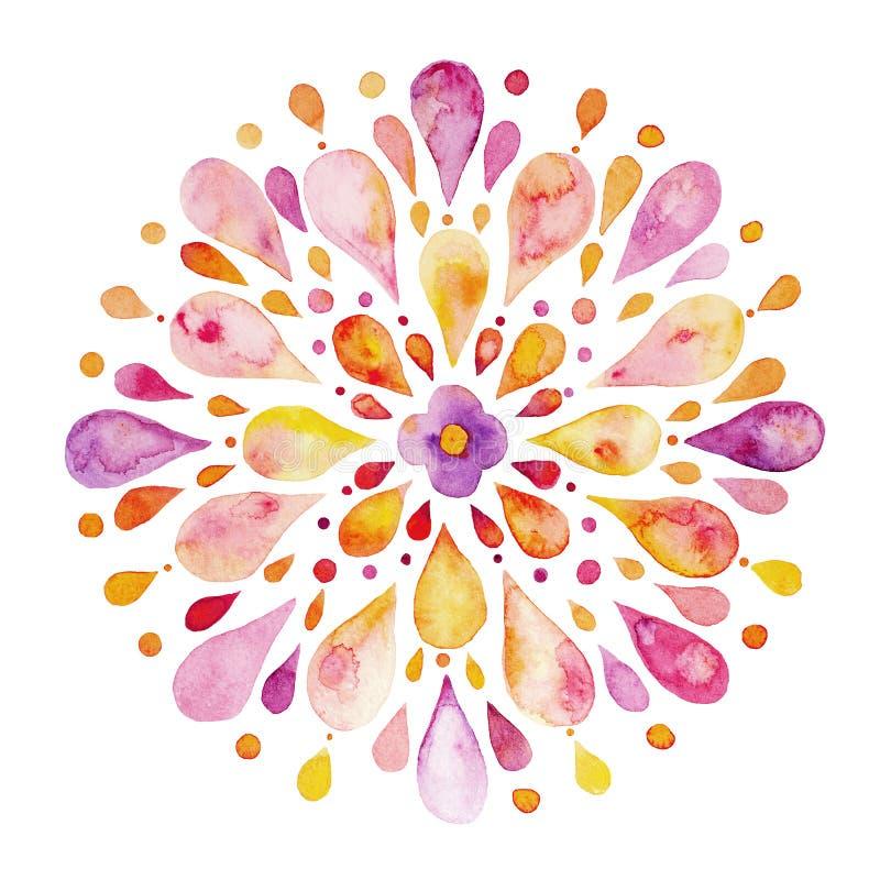 Abstrakt blommavattenfärg stock illustrationer