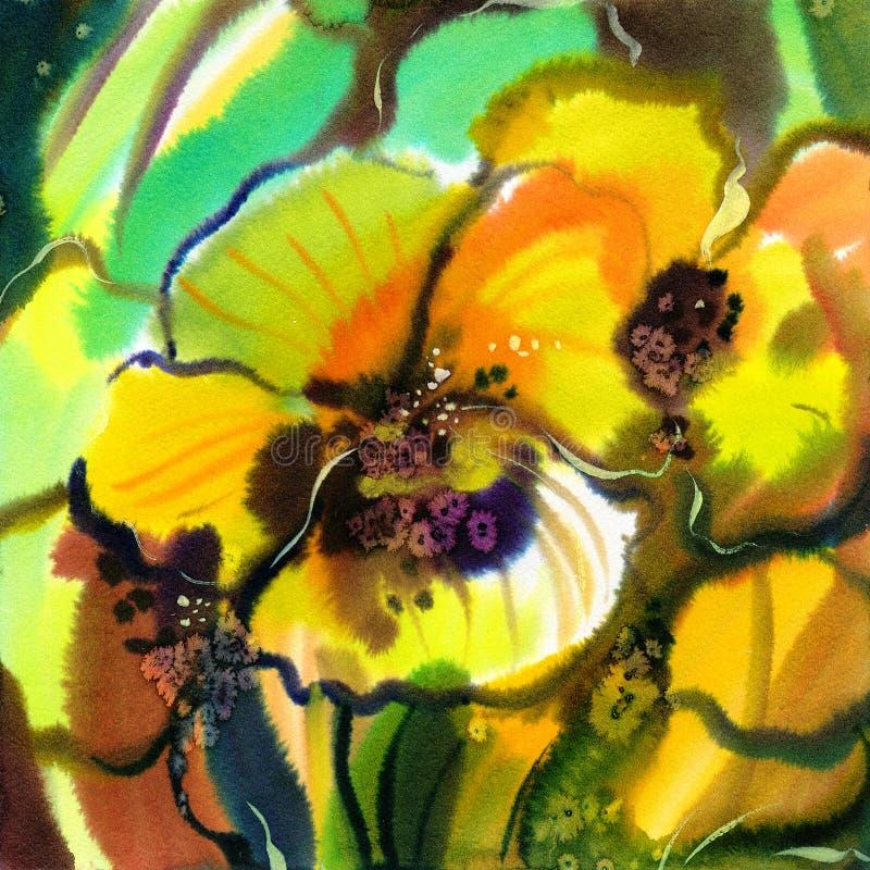 abstrakt blommor vektor illustrationer
