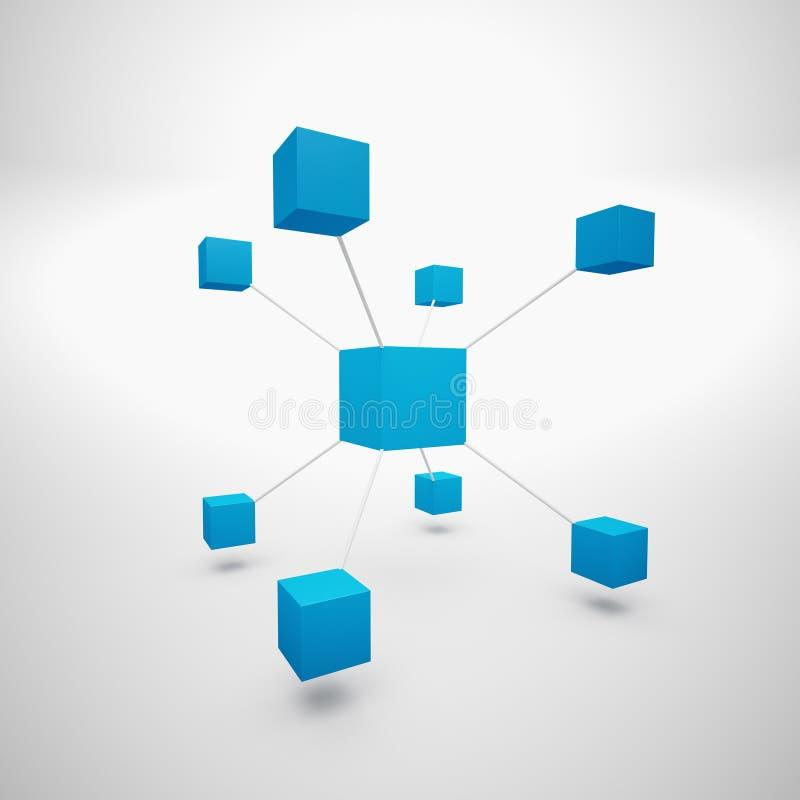 Download Abstrakt blue boxes stock illustration. Illustration of collaboration - 34274104
