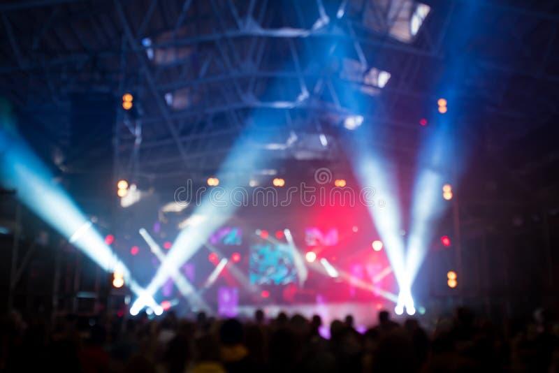 Abstrakt blured koncertowy pojęcia tło obrazy stock