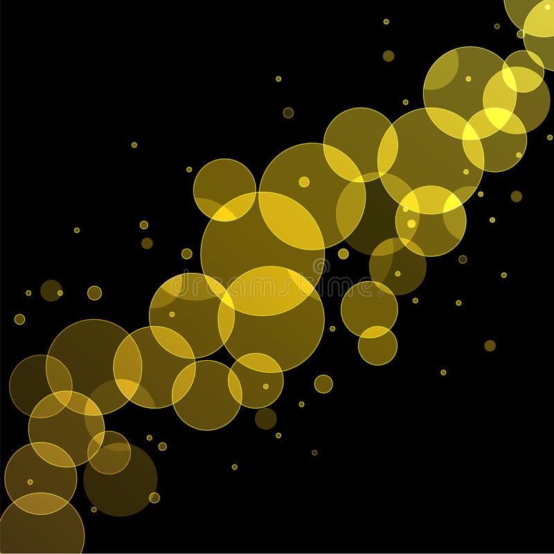 Guld- Bokeh bakgrund stock illustrationer