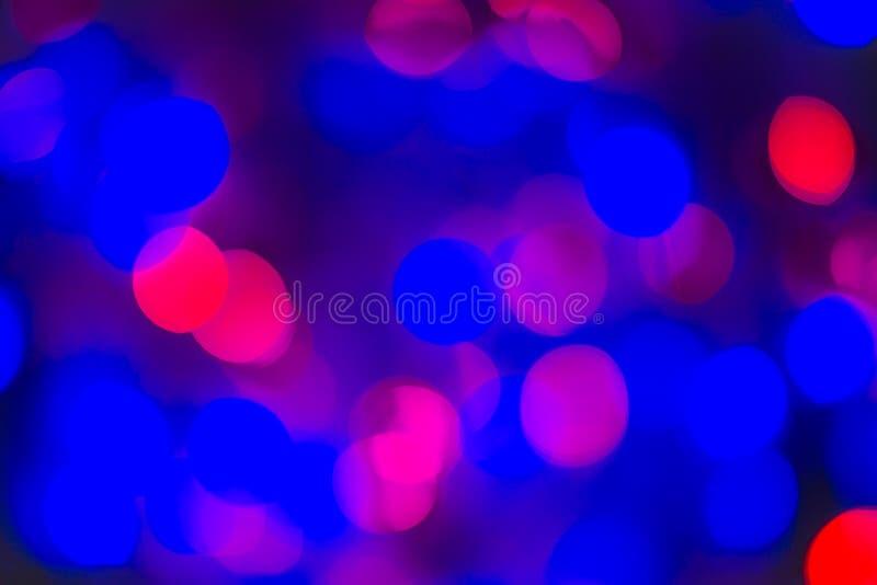 Abstrakt Bokeh textur Färgrik blå Defocused bakgrund gjorde suddig ljust ljus royaltyfri foto